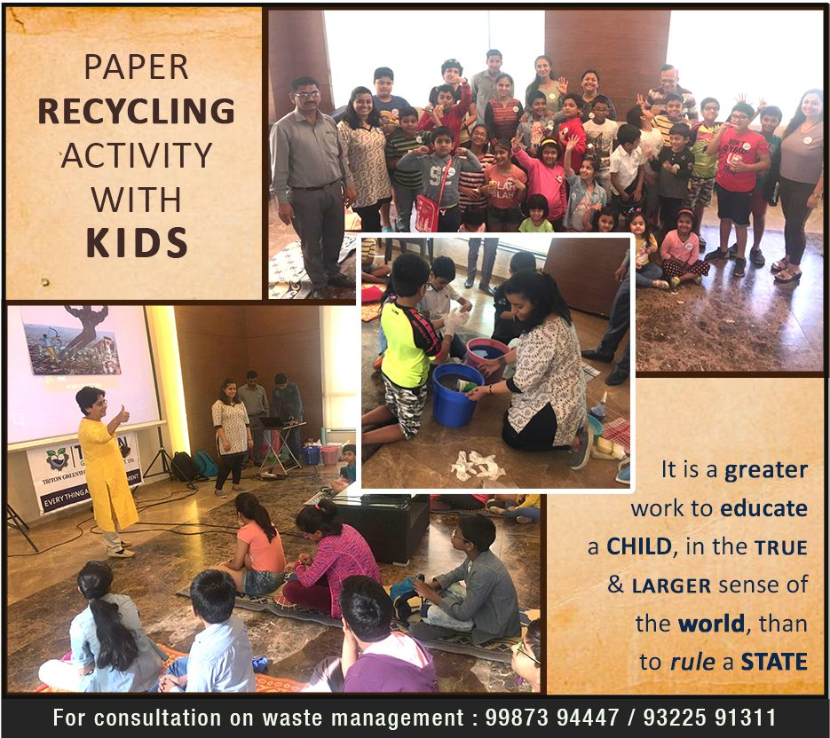 Paper Recycling Awareness for kids – Triton Greentech Innovations
